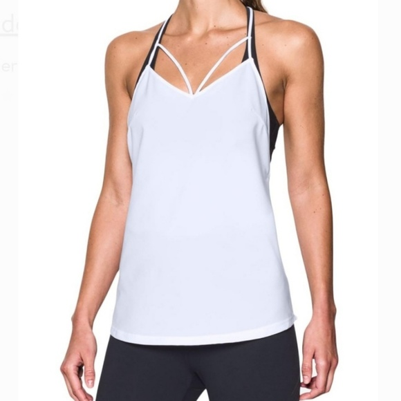 Under Armour Tops - Under Armour size XS Fushion Racer Tank top white